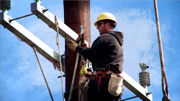 Union Electrical Lineman Worker